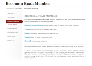 Kuali Member Benefits