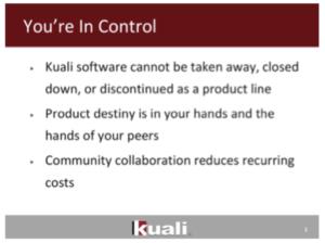 Kuali cannot be taken away