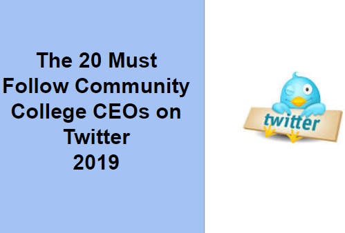 The 20 Must Follow Community College CEOs on Twitter 2019